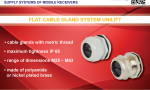Cable glands for flat cables UNILIFT